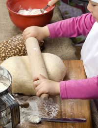Cookery Group Child Baking Bread Yeast